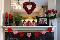 Valentines mantel..