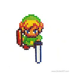 Legend of Zelda Link made out of Skittles