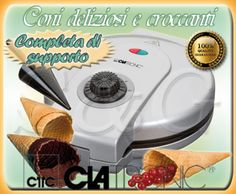 MACCHINA ELETTRICA PER CONI CONO CIALDE GELATO CLATRONIC DOLCI CUCINA COLAZIONE | eBay