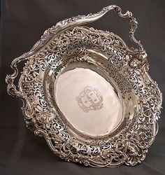 Magnificent Silver Basket, 18th century, England, artist unknown