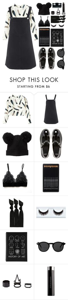 """Pinafores and Pretty Birds"" by finding-0riginality ❤ liked on Polyvore featuring Topshop, Monki, ASOS, Emi-Jay, Charlotte Russe and Le Métier de Beauté"