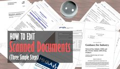 How To Edit Scanned Documents In Three Steps