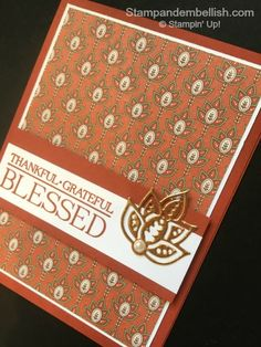Copper fuoil and the Paisley Framelits Dies make for an owesome embellisment on a simple card