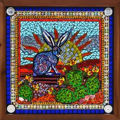 Kathleen Dalrymple - Glass Artist: Easter in Texas - a glass on glass mosaic stained glass window