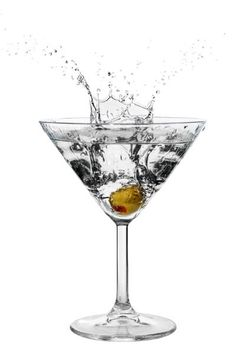 Vodka Martini. Dirty. But barely.