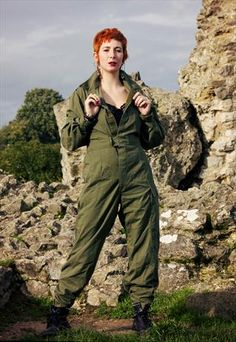 Vintage military overalls/coveralls/jumpsuit.