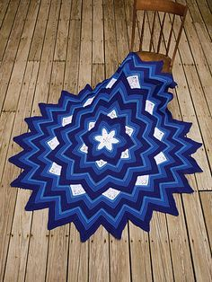 There is something so cheerful about this pattern. It is Six Pointed Star Afghan by Sandra Jean Smith.