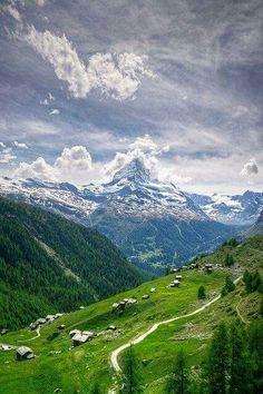 Monte Cervino, en los Alpes peninos
