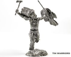 USA Indian Sioux Tin Toy Soldiers 54mm Miniature Figurine Metal Sculpture | eBay