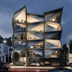 - Offices Rendering By - Raymundo Renteria Sanchez A collection of the best contemporary architecture to inspire you. Architecture Magazines, Futuristic Architecture, Facade Architecture, Residential Architecture, Contemporary Architecture, Office Building Architecture, Amazing Buildings, Modern Buildings, City Buildings