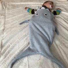 Shark tail blanket, baby sleep sack, shark sleeping bag, baby sleepsack blanket, shark bunting for baby, baby shower gift, Christmas present