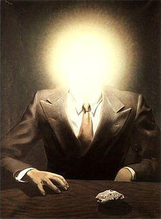 René Magritte, ((interpretation,a light went off in my head))