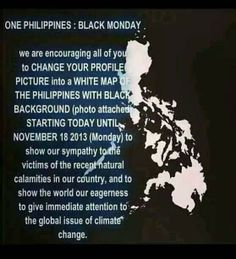 Show your support by joining One Philippines: Black Monday