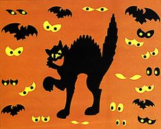 Purrfectly Frightening Halloween Wall Decals
