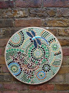 Dragonfly and lizard mosaic by Lindsey Kennedy Portfolio, via Flickr