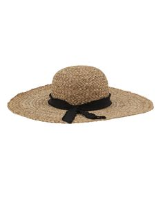 Hand-woven in Italy, Inverni's wide brimmed sunhat is both lightweight and durable. This style is crafted from straw and finished with a black grosgrain ribbon band. Pair this elegant accessory with a tunic and white denim or sundress for an elegant look.