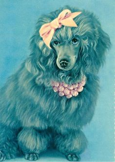 7 Engaging Poodle Postcards by rummagerumba on Etsy