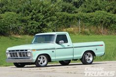 Jeff Huebner bought this 1976 Ford to have as a winter car, but he ended up loving the truck so much that he ended up restoring it. 1979 Ford Truck, Old Ford Trucks, Car Ford, Pickup Trucks, F100 Truck, Classic Trucks Magazine, Dream Car Garage, Classic Ford Trucks, Vintage Trucks