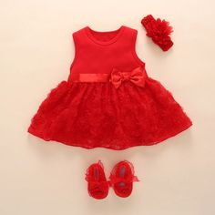 New Born Baby Girls Infant Dress&clothes Summer Kids Party Birthday Outfits Shoes Set Christening Gown Baby Jurk Zomer - Women Shopping Girls Baptism Dress, Baby Girl Dresses, Baby Dress, Cute Dresses, Dress Set, Infant Dresses, Romper Dress, Dress Outfits, Girl Outfits
