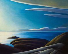 Lawren Harris Lake Superior III, c. Group of Seven Tom Thomson, Group Of Seven Artists, Group Of Seven Paintings, Canadian Painters, Canadian Artists, Abstract Landscape, Landscape Paintings, Landscapes, Small Paintings