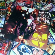 """If what you say is true the Shaolin and the Wu-Tang could be dangerous! Let's get this weekend going! """"Enter the Wu-Tang (36 Chambers)"""". And a bunch of old kung-fu flicks mostly Shaw Bros stuff.  #vinyl #vinylingclub #vinyljunkie #vinylporn #records #recordcollection #igvinyl #instavinyl #nowspinning #wutang #wu #36chambers #hiphopvinyl #hiphop #kungfu #shawbros #shawbrothers #album #rapmusic #enterthe36chambers by paulylogs_"""
