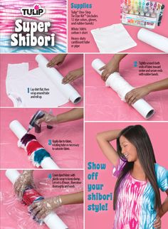 Try your hand at the shibori style of tie dyeing with this fun DIY tutorial.