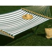 Found it at Wayfair - Large Quilted Hammock - Green/White Stripes