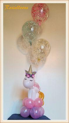 Unicorn from balloons Pony Party, Balloon Decorations, Birthday Decorations, Party Fiesta, Unicorn Themed Birthday, Unicorn Baby Shower, Bday Girl, 4th Birthday Parties, Birthday Ideas