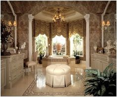 Gold Ideas for Luxury Bathroom Design, Bathroom Design Idea, Bathroom Interior Decor, Bathroom Gallery Interior Design Tuscan Decorating, Interior Decorating, Interior Design, Decorating Ideas, Decor Ideas, Tropical Bedrooms, Southwestern Home, Tropical Interior, Luxury Bedroom Design