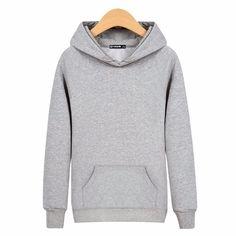 >> Click to Buy << Men Sweatshirt Hood Cotton O-neck Long Sleeved Sweatshirts Blank Solid Hoodies Men #Affiliate