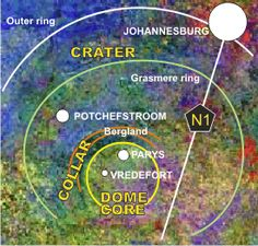 Vredefort Dome - The largest and most visible meteorite impact crater on Earth! A meteorite larger than Table Mountain slammed into the g. Free State, Port Elizabeth, Kruger National Park, Pretoria, Most Beautiful Cities, World Heritage Sites, Cape Town, Science And Technology, Geology