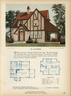 The DUNKIRK - Home Builders Catalog: plans of all types of small homes by Home Builders Catalog Co.  Published 1928