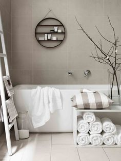 Grey bathroom | Photo by Chris Court
