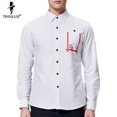 Find More Dress Shirts Information about Troilus 2016 New Brand Quality Prints…