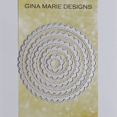 SCALLOPED STITCHED NESTED CIRCLE DIES - GINA MARIE DESIGNS