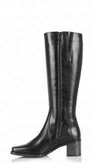 Boots Jenny Black Mid Heel Women Boots