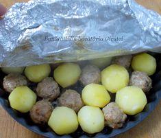 Chiftele cu cartofi la cuptor - Bunătăți din bucătăria Gicuței Vegetable Recipes, Cake Recipes, Fruit, Vegetables, Foods, Food Food, Food Items, Easy Cake Recipes, Veggies
