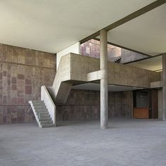 Millowners Association building. Ahmedabad India 1954. Le Corbusier