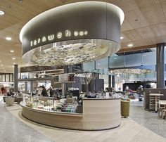 Fernweh Bar by Detail Design GmbH, Zurich Airport – Switzerland Mall Design, Kiosk Design, Retail Store Design, Design Blog, Cafe Interior Design, Retail Interior, Commercial Design, Commercial Interiors, Cafe Restaurant