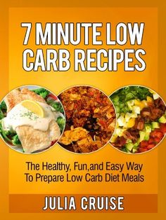 7 Minute Low Carb Recipes: The Healthy, Fun and Easy Way To Prepare Low Carb Diet Meals (Low Carb Cookbooks) by Julia Cruise, http://www.amazon.com/dp/B00C1MZN6G/ref=cm_sw_r_pi_dp_AVazrb0HEXSJ4