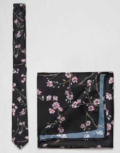 asos asos ensemble cravate et pochette motif floral economie de 17