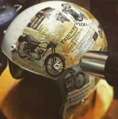 Helmet Art with upcyclehelmets