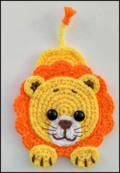 lion applique Crochet pattern, cute applique pattern for bags, crafting, scrapbooking and nursery wall art! Best Picture For Crochet Pattern top For Your Taste You. Crochet Teddy, Crochet Amigurumi, Crochet Bunny, Cute Crochet, Crochet Animals, Crochet Crafts, Crochet Dolls, Crochet Projects, Knit Crochet