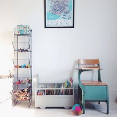 Une chambre d'enfant bien rangée @bloglatoupie