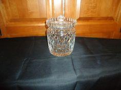Vintage 1970's Waterford Crystal Lismore  Biscuit Barrel. Catalog # 100/308 #WaterfordCrystal