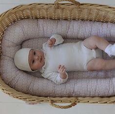 db25f31baa1 Wonderful baby nest in soft blue by the scandinavian brand Filibabba