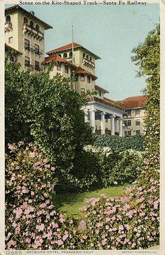 Old Postcard - Raymond Hotel, Pasadena, CA