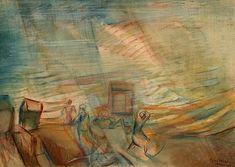 Egry József Vihar a Balatonon című képe Artists, Painting, Painting Art, Paintings, Painted Canvas, Artist, Drawings