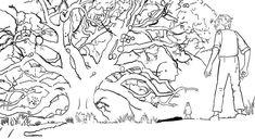 BFG Coloring Pages - Best Coloring Pages For Kids Tree Coloring Page, Disney Coloring Pages, Colouring Pages, Coloring Pages For Kids, Bfg Movie, Disney Movies, Disney Characters, Greatest Adventure, Scene