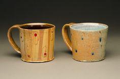 Coffee, anyone? Ceramic mugs by Jonathan Barnes. mtcontempo.com